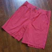 Venezia Womens Plus sz 16 Coral Soft Waist Bermuda Walking Shorts Cotton Stretch
