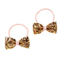 Glitter Bow Pony Holders Two-Pack
