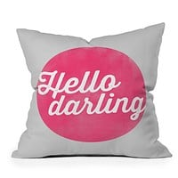 Allyson Johnson Hello Darling Throw Pillow