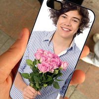 Romantic Harry One Direction Pictures - Hard Case Print - iPhone 4 / 4s or iPhone 5 Case - Black or White Case