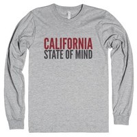 California State Of Mind Long Sleeve Tee (ida422208)-T-Shirt