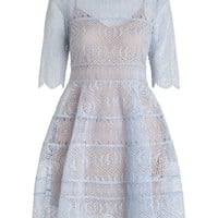 Adorn Embroidered Bell Dress