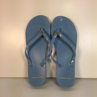 Tory Burch Women's Blue Thin Flip Flops, preloved
