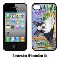 Carolines Treasures SS8638IP4 Boston Terrier Cell Phone Cover Iphone4