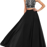 Vienna Bride Fascinating Beaded Two Piece Prom Dress For Women Formal Gown 2016