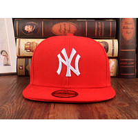 Red York Yankees Authentic NY Baseball Cap Adjustable Snapback Sport hat