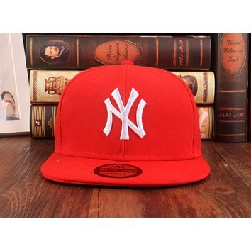 Red York Yankees Authentic NY Baseball Cap Adjustable Snapback Sport hat New