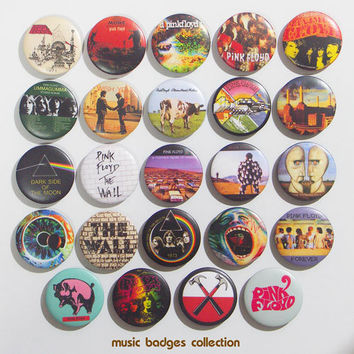 Pink floyd pinback button badges set by ISUBWAY on Etsy