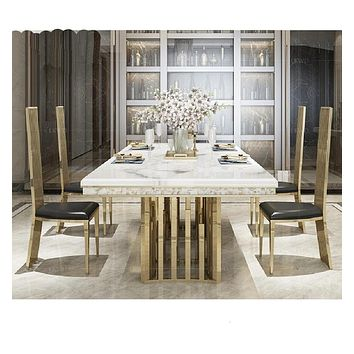 Artistic Marble Top Dining Table Set