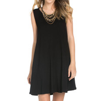 Sleeveless Swing Dress Black