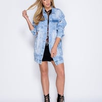 Denim Craze Distressed Boyfriend Jacket