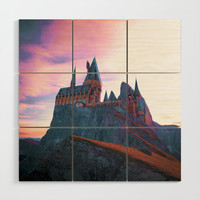 Hogwarts School of Witchcraft and Wizardry Wood Wall Art by anthonylonder