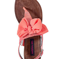 Material Girl Shoes, Solar Flat Thong Sandals - Material Girl - Shoes - Macy's