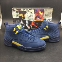 "Air Jordan 12 Retro ""Michigan"" Basketball Shoe"