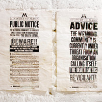 """Ministry of Magic - Pack of 2 posters - """"Advice"""" and """"Public Notice"""""""