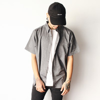 Zack Collar Button Shirt (Grey)