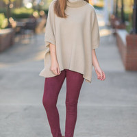 Warm For The Holidays Sweater, Beige