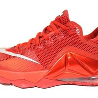 Tagre™ Nike Men's Lebron XII Low Red Basketball Shoes 724557 616