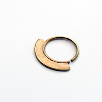 gold nose ring- septum ring- Egyptian handmade nose jewelry - Ancient look- 14k solid gold- tragus