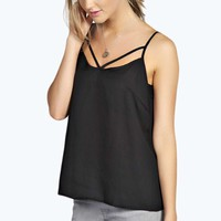 Teagan Strappy Front Woven Cami