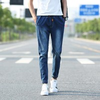 Summer Men Cropped Pants Men's Fashion Pants Casual Jeans [6528955203]