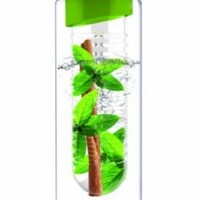 Asobu Flavor It 20 Once Glass Water Bottle With Fruit Infuser,  Green