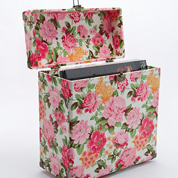 """Crosley 12"""" Record Carrier Case in Floral - Urban Outfitters"""
