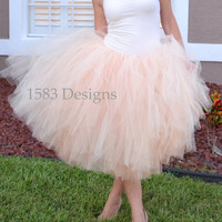 FULL Custom Made Basic Tutu Skirt - For ADULTS and Big Kids - Any Length or Colors