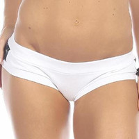 Sexy Night Vision Military Navy Blue Scrunch Back Athletic Mini Shorts - White/Blue