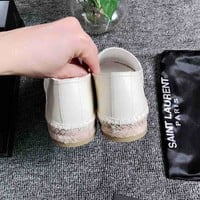 YSL Fashion Casual Running Sport Shoes Sneakers Slipper Sandals High Heels Shoes
