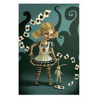 Lowbrow Art Company Miss Wonderland Art Print by Artist Diana Levin