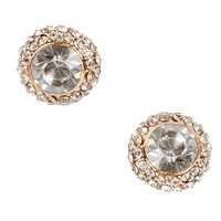 Gold Rhinestone Covered Studs