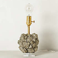 Pyrite Crystal Lamp Base by Anthropologie Pyrite One Size Lighting