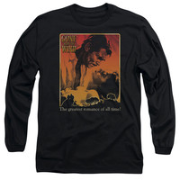 GONE WITH THE WIND/GREATEST ROMANCE-L/S ADULT 18/1-BLACK