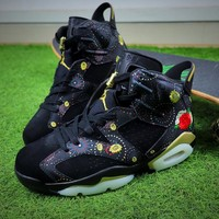 2018 Air Jordan Retro 6 CNY Chinese New Year 3M Exquisite Floral Embroidery Fireworks Men Basketball Shoes Sneakers - Best Online Sale