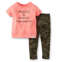 2-Piece French Terry Top & Legging Set