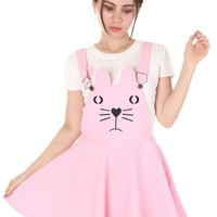 Kitty Face Pinafore In Pink