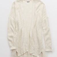 Aerie Cozy Texture Cardigan , Heather Frost