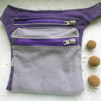 christmas sale Canvas Hip Bag Violet