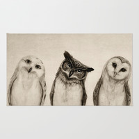 The Owl's 3 Rug by Isaiah K. Stephens | Society6