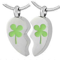 """Cremation Jewelry Stainless Steel """"BFF"""" Pendants 2 Necklaces"""