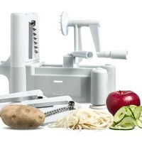 New and Essential Spiralizer Tri-Blade Spiral Vegetable Slicer