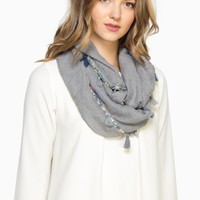 ShopSosie Style : Barlow Infinity Scarf in Charcoal