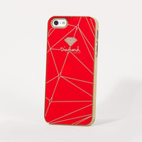Brilliant iPhone 5 Snap Case in Red/Gold