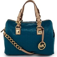 MICHAEL Michael Kors Chain Satchel Bag - Turquoise