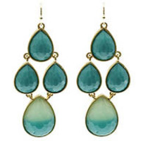 Online Exclusive - Dipped Earrings in Teal and Gold