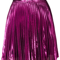 **Metallic Pleated Mini Skirt by Lashes Edit - New In This Week - New In - Topshop USA