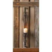 Iron Wall Sconce Decor Pillar Candle Holder