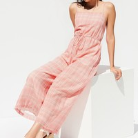 UO Audra Gingham Jumpsuit | Urban Outfitters