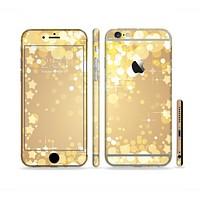 The Gold Unfocused Sparkles Sectioned Skin Series for the Apple iPhone 6 Plus
